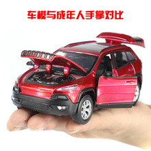 1:32 Alloy Diecast Car Model for JEEP Cherokee Pull Back Toy Car model Electronic Car with Kids Toys Gift