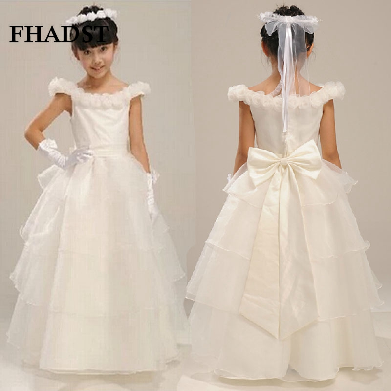 FHADST Summer Children Girl Wedding Dresses Wear Formal Dress European Style Pink Princess Cotton Suit 3T-8T Autumn Cute Winter<br>