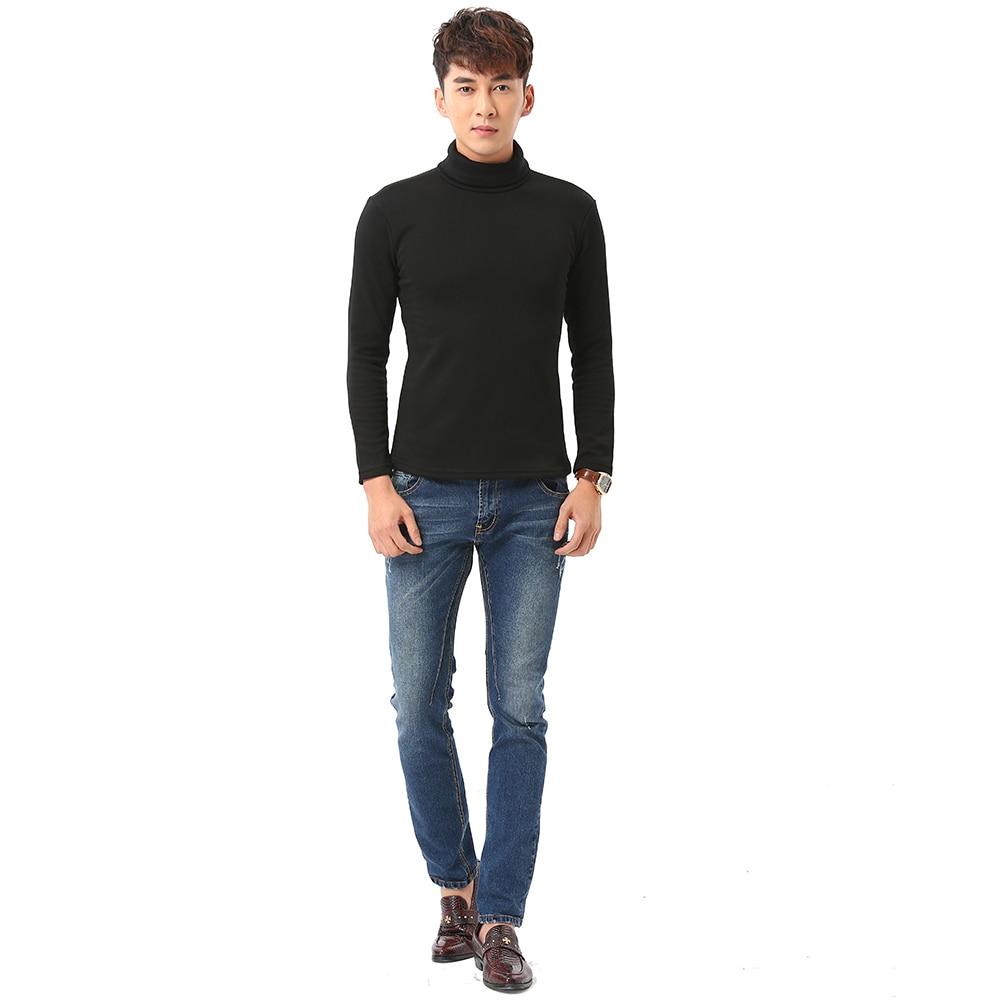 Black Turtleneck Sweater Men Pullovers Winter Thicken Underwear Mens Slim Fit Cotton Jumpers Male Turtle Neck camiseta Sweater Pull homme (2)