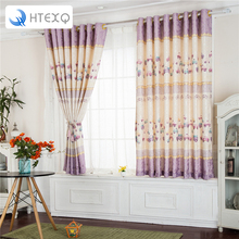 Modern floral print curtains car kid's curtains drapes insulated blackout curtains lace curtains fabric(China)