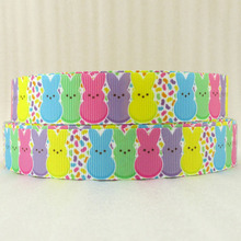 (5yds per roll) 7/8''(22mm) easter high quality printed polyester ribbon, DIY handmade materials, wedding gift wrap,5Yc1070(China)