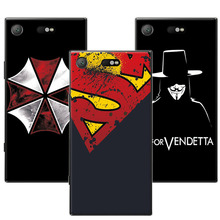 "Buy New Fashion Soft Silicon Dark Man Case Sony Xperia XZ1 Compact Cover Sony XZ1 Compact 4.6"" Back Coque for $1.48 in AliExpress store"
