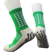 Men Summer Running Football Socks Hot New High Quality Men Cotton and Rubber Socks Anti-Slip Breathable Futbol Meias 8 Colors