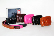 Black/Brown/Pink/Coffe Camera Case Bag Leather Case Cover for Digital Camera Canon G15 G16 Free Shipping