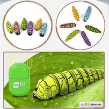 Gags Practical Jokes Funny Gadgets toy Infrared Remote Control Bionic Worm Plastic remote Toys Magic Bug For Children Fun Toys