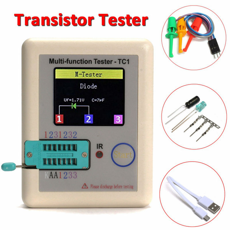 2017 T1 New Transistor Tester TFT Diode Triode Capacitance Meter LCR ESR meter NPN PNP MOSFET IR Multifunction tester multimeter<br><br>Aliexpress