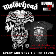 Motorhead Hard rock Band Hiro Double Eagle 100% Cotton Casual Fashion Printing T-shirt Tee