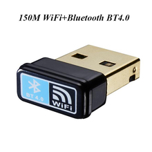 USB Mini Wireless wifi Bluetooth BT4.0 150M Network Card wi fi adapter 802.11b/g/n for pc desktop laptop