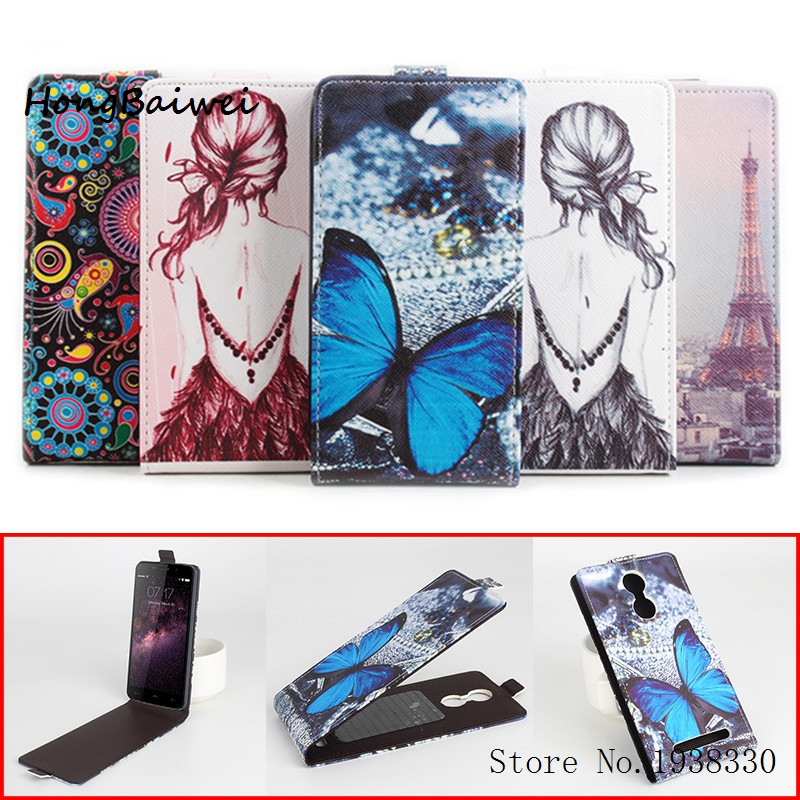 Hongbaiwei 5 Painted StylesFor HOMTOM HT17 Leather Cases Wallet High Flip Leather Phone Cover Case HOMTOM HT17 Smart