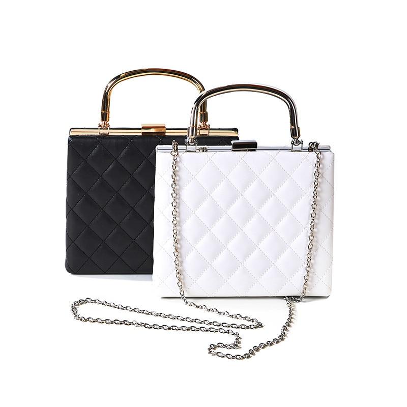New black color diamond Lattice Women Bag Designer Handbags High Quality Lady Quilted Plaid chain Shoulder Crossbody Bags ST1054<br><br>Aliexpress