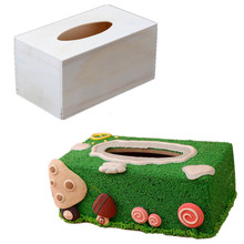 Wooden Cartoon Removable Tissue Box Cover Designed Make DIY Surface For Home Decoration DIY Toys Crafts Box(China)