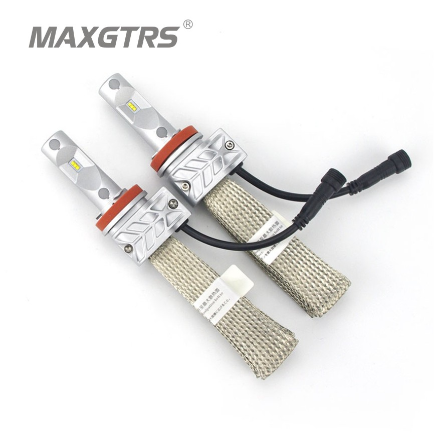 Super Bright 8000lm H8 H9 H11 H16 JP 6000K Car LED Headlight Conversion Kit Lumileds Chips Fog Light Bulb All In One Car Styling<br><br>Aliexpress