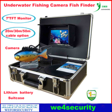 Underwater Camera With Monitor China Underwater Fishing Video Camera 50m Cable Fish Finder 7' TFT(China)