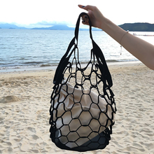 New Korean INS Hollow Out Mesh Bags Retro Color Handbags Bucket Packs Leisure Large Capacity Beach Bags Holiday Seaside(China)