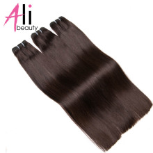 ALI-BEAUTY Straight Human Hair Weft 100% Remy Hair Extensions Weft Width 120-130cm Support Customized(China)