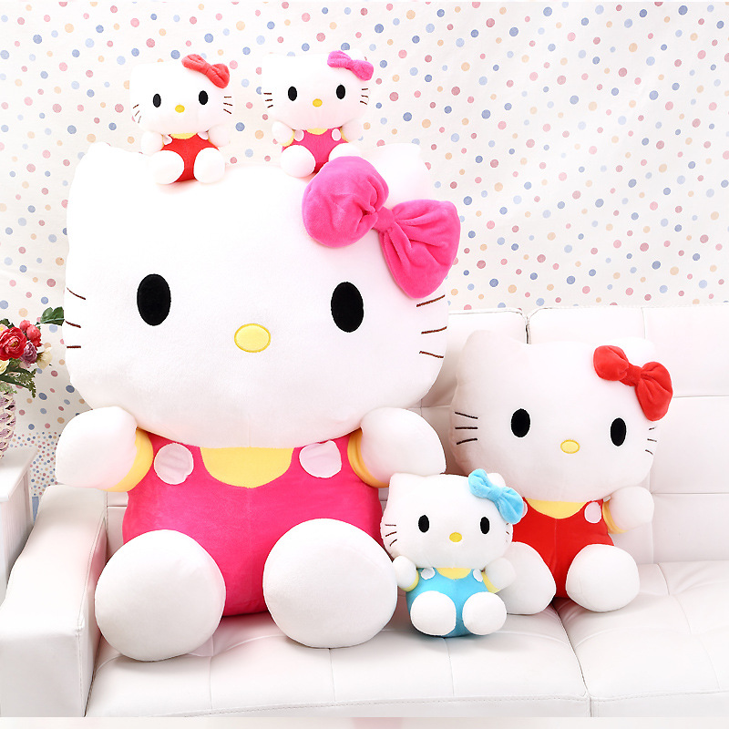 High Quality Big Hello Kitty Plush Dolls for Lively Lovely,Children Kids Baby toy,hello kitty toy 35cm,60cm(3color for choice)(China)