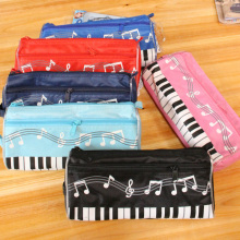 Cute Mini Pencil Bag Pen Eraser Ruler Holder Home Sundries Pouch Bag Cloth Musical Piano Keyboard School Stationery(China)