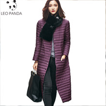 Ultra Light Down Jacket Women Long Puffer Coat Plus Size Winter Duck Brand Stand Collar Plus Capuz Lightweight Ultralight LXT316
