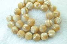 MOP smooth Round beads 12mm 31 pcs(China)