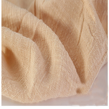 Soft Linen Cotton material apricot crincle wrinkle tissue scarves dress double layer linen cotton crepe fabric By meter