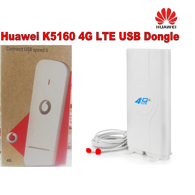 Unlocked USB Stick for Vodafone LTE Category 4 networks K5160 +49dbi CRC9 4g antenna