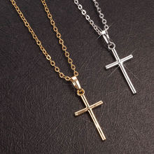 Buy European Fashion Trendy Punk Simple Cross Charms Pendant Necklace men women Gold Color Plated Link Chain Necklace Pendants for $1.70 in AliExpress store