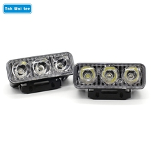 Tak Wai Lee 2Pcs/Set LED DRL Daytime Running Lights Work Lamps Car Styling Light Source Waterproof Fog Parking Lamp For 4X4 SUV(China)