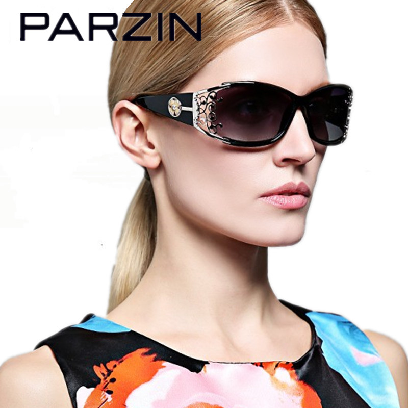 Parzin Sunglasses Women Polarized Elegant Lace Female Sun Glasses Sunglases Ladies Shades Oculos  Gafas With Case 9218 Black<br><br>Aliexpress