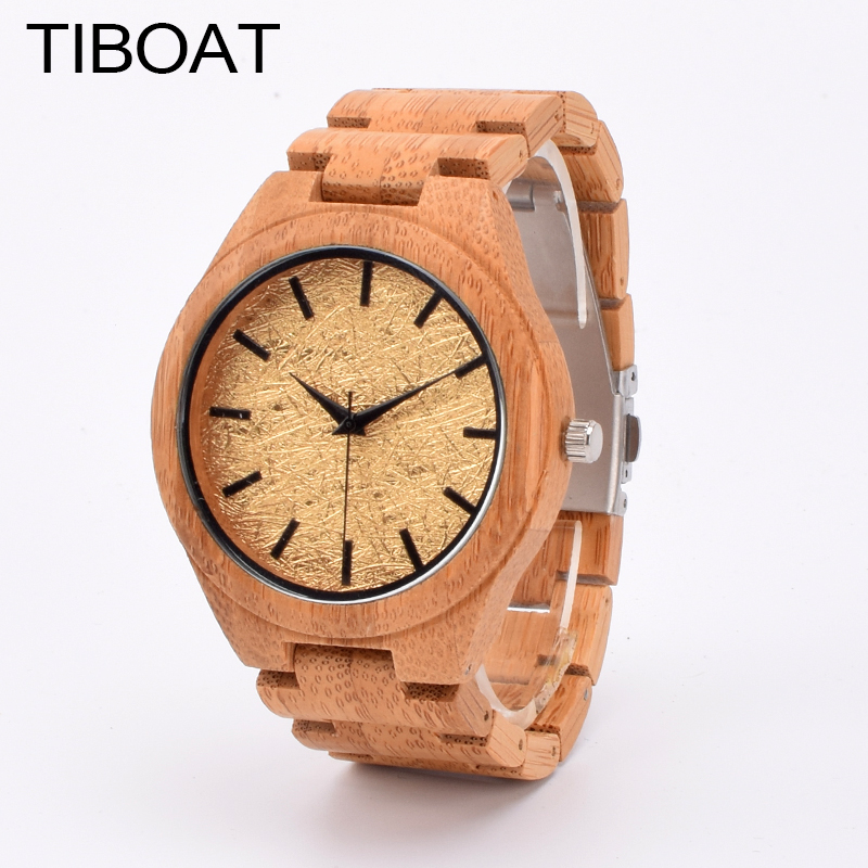 TIBOAT TB1M Analog Luxury Wood Watch for Men New Quartz Watch Wooden Wrist Watch relogio masculino<br>