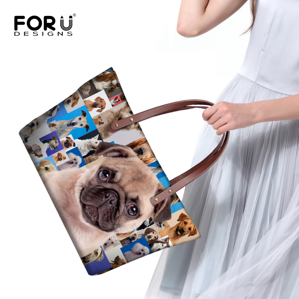 Rottweiler Pug Dog Women Handbags Casual Large Womens Shoulder Bag Famous Brand Top-handle Bags High Quality Animal Tote Purse<br><br>Aliexpress