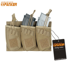 Buy EXCELLENT ELITE SPANKER Tactical Triple AK47 Ammo Clips Universal Clip Set Outdoor Hunting Equipment Bag Molle Magazine Pouch for $21.63 in AliExpress store