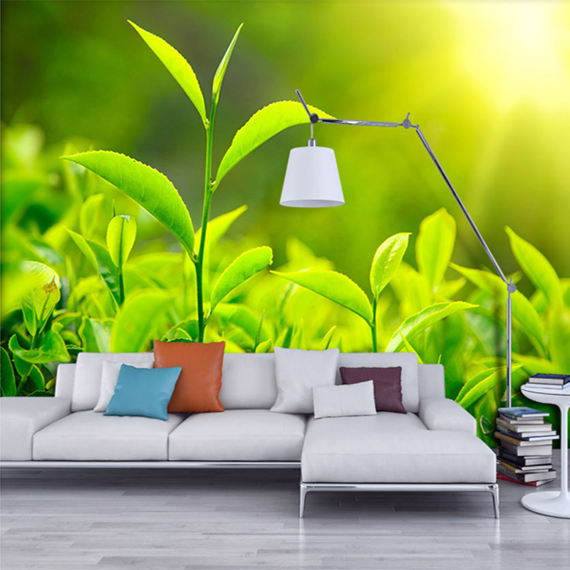 Customized 3D Room Landscape Wallpaper HD Large Mural Green Grass Leaves Bedroom Wall Decoration Wall Paper Papel De Parede 3D<br><br>Aliexpress