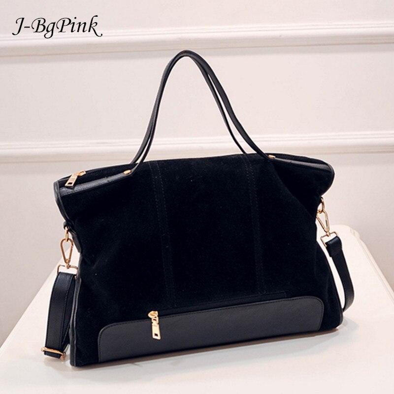 suede bag brand fashion female shoulder bag high quality split leather cosmeti totes retro large capacity handbag for women 2017<br>