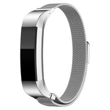 High Quality Watch band strap Replacement Milanese Magnetic Loop Stainless Steel Customized Band For Fitbit Alta Smart Watch(China)