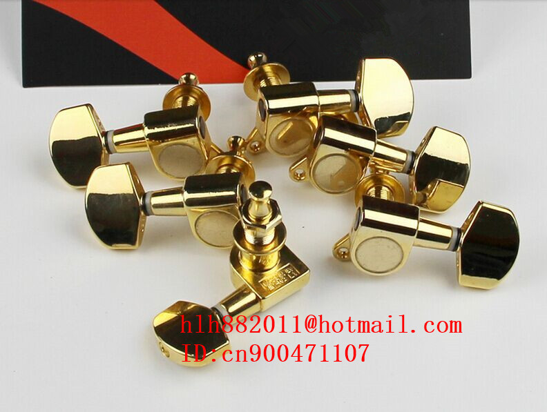 free shipping new  electric guitar gold metal tuning peg guitar button for both side of the guitar  J-01 AR-1<br>