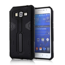 For Samsung Galaxy G530 [Cool Robot] PC + TPU Hybrid Cell Phone Back Case Armor Cover Dust Plug Drop Protection Fashion