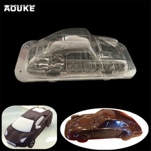 New 3D Car/Automobile Shape Chocolate Mold Making Pastry Candy Tools Dessert Transparent Plastic Molds DIY Cake Decoration Mould