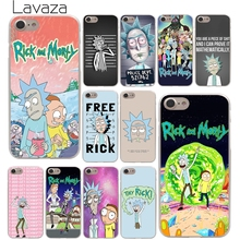 Lavaza Rick and Morty Season Hard Phone Cover Case for Apple iPhone 10 X 8 7 6 6s Plus 5 5S SE 5C 4 4S Coque Shell