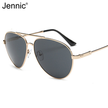 Jennic Men Pilot Pilarized Sunglasses Alloy Frame Auti Glare Lens UV400 Glasses High Definition Visual Eyewear Brand Designer