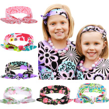 2017 New Girls Headband Head Wrap Floral Printing Headbands Turban Headwear Newborn Infants Photo Prop Hair Accessories(China)