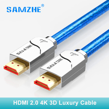 SAMZHE 4k HDMI cable cabo hdmi to hdmi 2.0 2160p 3D 1M 1.5M 2M 3M 5M 8m 10m 12m 15m for PS4 xbox Projector HD TV box Laptop(China)
