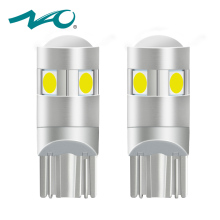 NAO 2x t10 LED Bulb w5w led Lamp Car Lights Interior Super Bright 1.6W 5 led 3030 SMD 194 168 12V 6000K White Orange Turn Signal(China)
