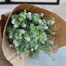 Hot Green Plant Grass Fake Floral Artificial Plants Artificial Flowers artificial succulents Household Decoration Plastic flower(China)