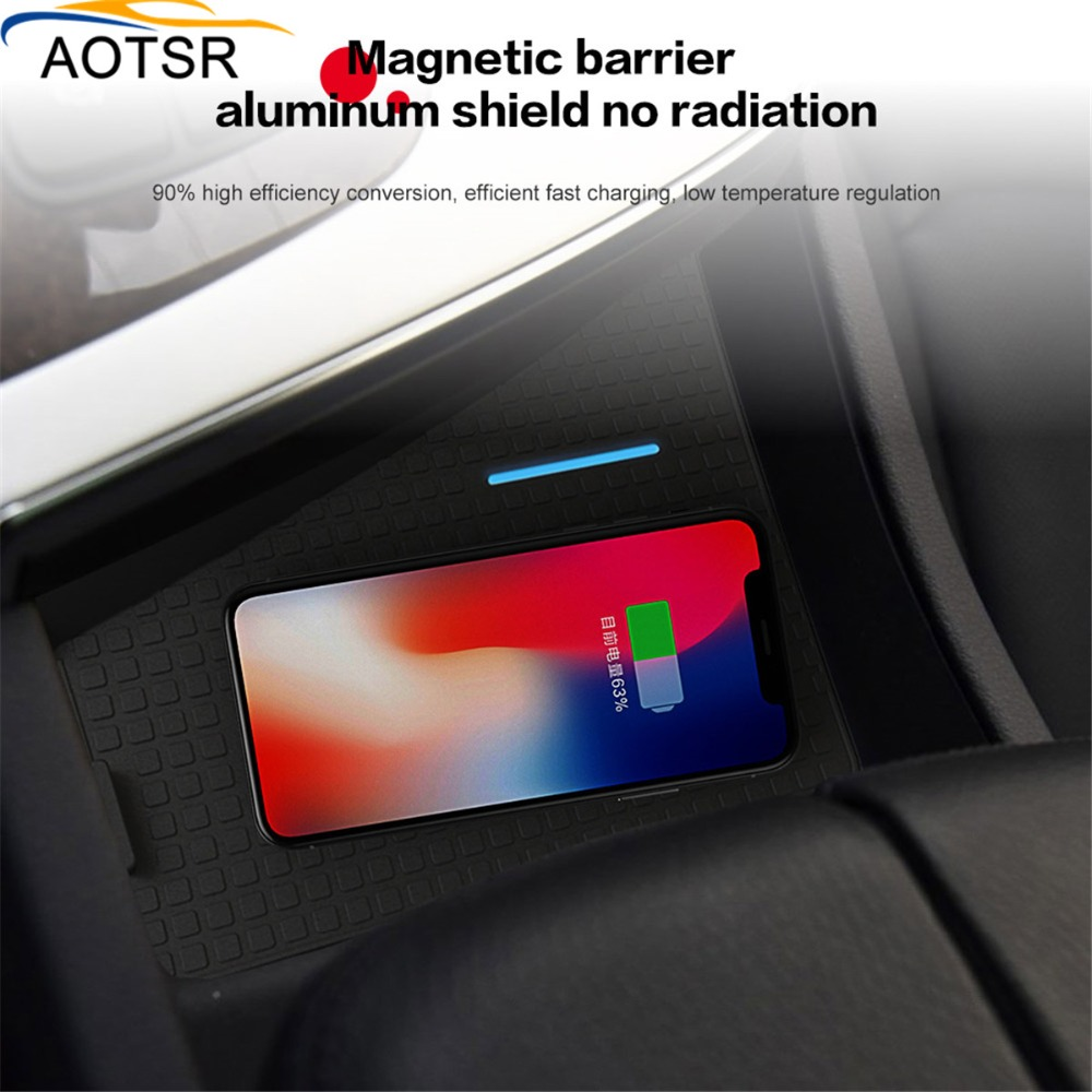 QI Fast Charging Smartphone Wireless Car Charger for Audi Q7 2016-2018