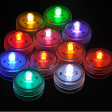 12pcs White RGB waterproof LED Submersible light MINI floral Lights candles Underwater Tealight home party decor