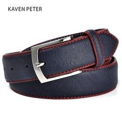 Модный высококачественный брендовый мужской ремень, кожаный ремень, итальянский дизайн, повседневные мужские кожаные ремни для джинсов, бе...