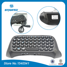 Black Mini Bluetooth for PS4 Wireless Keyboard Joystick Chatpad for PlayStation 4 Wireless Controller(China)