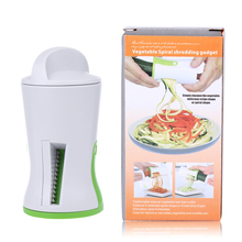 New Vegetable Spiralizer Handheld Spiral Cutter Graters Carrot Cucumis sativus Slicer Spaghetti Pasta Kitchen Cooking Tools(China)
