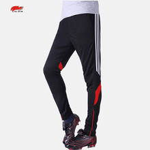 RE-HUO New Spring Winter Men's Sport Quick-drying Running Half zipper Closing Leg Trousers Football Training pants for soccer