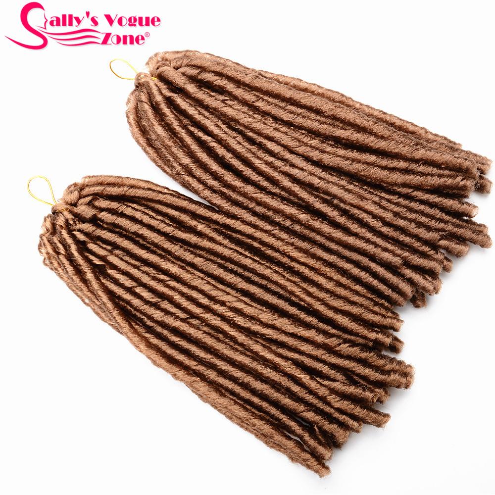 24 Roots Faux LocsCrochet Hair 18 Crochet Faux Lock Dreadlock Crochet Braids hair Extensions Synthetic Braiding hair Soft lock (155)_